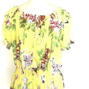 Ali & Kris Sheer Floral Peasant Top Blouse